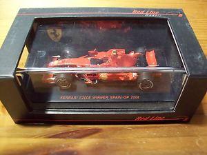 【送料無料】模型車 モデルカー スポーツカー レッドラインフェラーリモデルキミライコネンスペイングランプリ143 red line models ferrari f2008 kimi raikkonen winner spain gp 2008