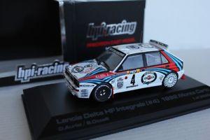 【送料無料】模型車 モデルカー スポーツカー ランチアデルタラリーモンテカルロレーシング143 lancia delta hf integrale rally monte carlo winner 1992 rare hpi racing
