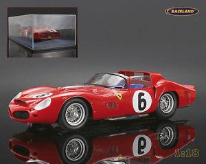 【送料無料】模型車 モデルカー スポーツカー フェラーリルマンヒルショーケースferrari 330 tri lm sieger le mans 1962 gendebienhill mit vitrine looksmart 118