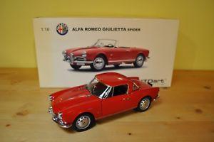 【送料無料】模型車 モデルカー スポーツカー アルファロメオクモautoart alfa romeo giulietta spider red 118