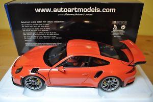 【送料無料】模型車 モデルカー スポーツカー ポルシェグアテマラオレンジautoart porsche 911 991 gt3 rs lava orange 118 78168