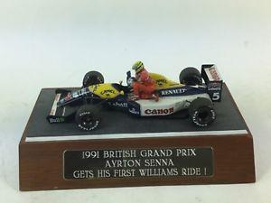 【送料無料】模型車 モデルカー スポーツカー マンセルアイルトンセナウィリアムズグランプリ143 mansell ayrton senna gets his first williams f1 ride british grand prix 91
