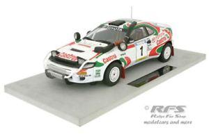 【送料無料】模型車 モデルカー スポーツカー トヨタセリカターボサファリラリートップマルケスユハカンクネンtoyota celica turbo 4wd safari rallye 1993 juha kankkunen 118 top marques