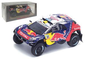 【送料無料】模型車 モデルカー スポーツカー スパークプジョーダカールラリーペテランセルspark s4876 peugeot 2008 dkr16 winner dakar rally 2016 s peterhansel 143