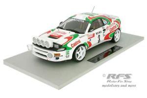 【送料無料】模型車 モデルカー スポーツカー トヨタセリカターボモンテカルロラリートップマルケスtoyota celica turbo 4wd rallye monte carlo 1993 auriol 118 top marques 034a