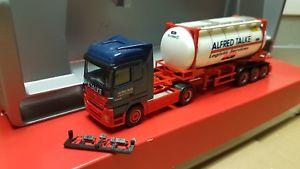【送料無料】模型車 モデルカー スポーツカー herpa actros lh alfredtalke logistics 25 ft chemical container148658
