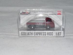 【送料無料】模型車 モデルカー スポーツカー ブッシュゴリアテエクスプレスプラットフォームトラックbusch 94202 goliath express 1100 pritschenwagen, rot 187 neu ovp