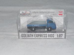 【送料無料】模型車 モデルカー スポーツカー ブッシュゴリアテエクスプレスプラットフォームトラックbusch 94200 goliath express 1100 pritschenwagen, blau 187 neu ovp