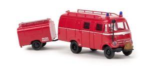 【送料無料】模型車 モデルカー スポーツカー brekina 36607 187 mb lf 319 lf 8 mit tsaanhnger feuerwehr neu