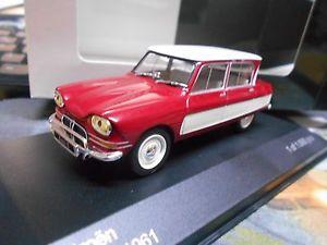 【送料無料】模型車 モデルカー スポーツカー シトロエンリムジンネットワークホワイトボックスcitroen ami6 ami 6 1961 red white rot weiss limousine ixo white box 143