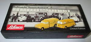 【送料無料】模型車 モデルカー スポーツカー ピッコロセットschuco piccolo 50171054 set deutsche bundespost  neuovp