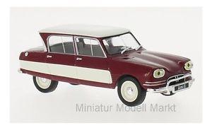 【送料無料】模型車 モデルカー スポーツカー シトロエンダークレッドホワイト155 whitebox citroen ami 6 dunkelrotweiss 1961 143