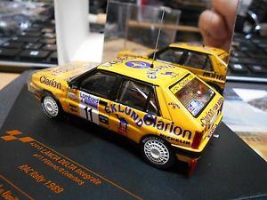 【送料無料】模型車 モデルカー スポーツカー ランチアデルタラリー#クラリオンlancia delta integrale 4wd rallye rac gb 1989 11 eklund clarion s vitesse 143
