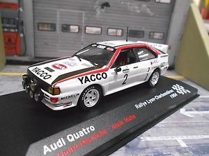 【送料無料】模型車 モデルカー スポーツカー アウディクワトロラリーリヨン#ネットワークaudi quattro rallye grb lyon charbonnieres 2 darniche yacco ixo altaya 143