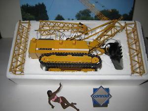 【送料無料】模型車 モデルカー スポーツカー ショベルバケットコンラッドliebherr hs 843 hd bagger mit schleppschaufel 2732 conrad 150 ovp