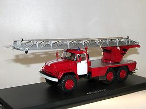 【送料無料】模型車 モデルカー スポーツカー スタートスケールモデルアルターンテーブルstart scale models ssm1163, al30 zil131 feuerwehr drehleiter, ladder 143