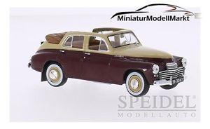 【送料無料】模型車 モデルカー スポーツカー カブリオレベージュダークレッド217 whitebox gaz m20 pobieda cabriolet beigedunkelrot 1950 143