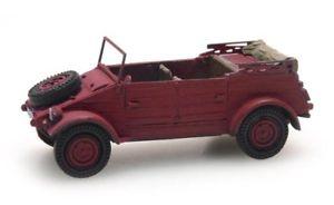 【送料無料】模型車 モデルカー スポーツカー artitec 387238 kubelwagen vw 82 versione civile rossa resina h0187