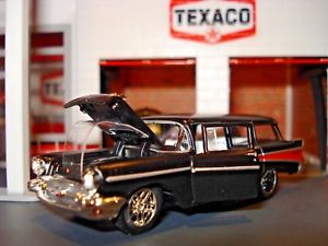 【送料無料】模型車 モデルカー スポーツカー シボレーボーヴィレドアワゴン1957 chevrolet beauville 4 door wagon limited edition 164 m2 modern cruiser