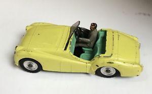 【送料無料】模型車 モデルカー スポーツカー dinky toys triumph tr2 meccano ltd used yellow
