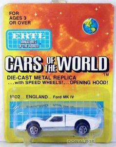 【送料無料】模型車 モデルカー スポーツカー フォードホワイトグアテマラスケールertl cars of the world 1967 ford gt40 mkiv white gt40 moc 164 scale