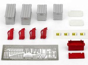 【送料無料】模型車 モデルカー スポーツカー セットボックスカセットハム143 set accessori x box estintori casse cassette attrezzi ecc  brumm f093