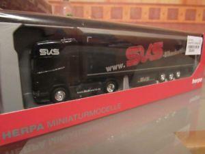 【送料無料】模型車 モデルカー スポーツカー スカニアカーテンプランシャトルバイクトレーラーherpa 159722 scania r tl gardinenplanensattelzug sks bikeshuttle
