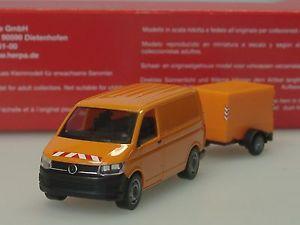 【送料無料】模型車 モデルカー スポーツカー トランスポータートレーラーherpa vw t6, kommunal, transporter mit planenanhnger 093071  187
