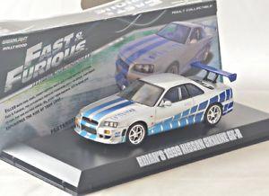 【送料無料】模型車 モデルカー スポーツカー スカイラインアンプ 143 greenlight 86208 nissan skyline gtr, fast amp; furious