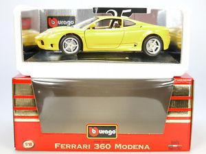 【送料無料】模型車 モデルカー スポーツカー フェラーリモデナneues angebotbburago burago 3368 ferrari 360 modena 1999 gelb mib 118 ovp sg 14070163