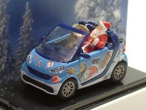 【送料無料】模型車 モデルカー スポーツカー ブッシュスマートカブリオクリスマスbusch smart cabrio weihnachten 2015 99088 187