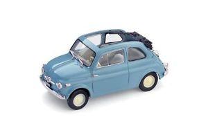 【送料無料】模型車 モデルカー スポーツカー フィアットヌォーヴァモデルハムfiat nuova 500 economica aperta 1957 celeste cenere 143 model r34004 brumm