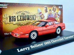 【送料無料】模型車 モデルカー スポーツカー シボレーコルベットレッドランプ1985 chevrolet corvette c4 rot   the big lebowski  greenlight 143