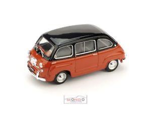 【送料無料】模型車 モデルカー スポーツカー フィアットネロロッソコラッロハムfiat 600 multipla 1960 nero rosso corallo brumm 143 r33308