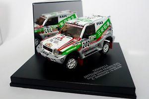 【送料無料】模型車 モデルカー スポーツカー パジェロダカールラリーvitesse 143 mitsubishi pajero rally dakar 1999