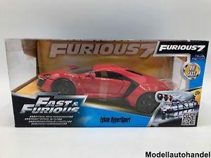 【送料無料】模型車 モデルカー スポーツカー ハイパーモータスポーツw motors lykan hypersport fast amp; furious 7 rot 124 jada neu