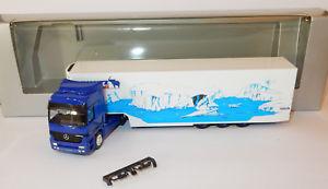 【送料無料】模型車 モデルカー スポーツカー ホメルセデスアクトロスボックスherpa ho 187 mb mercedes actros 1853 camion semi remorque schmitz cargobull box