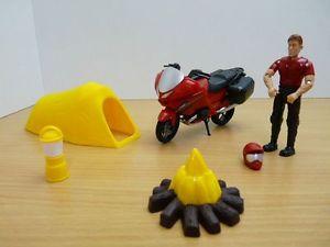 【送料無料】模型車 モデルカー スポーツカー set moto tente figurine campeur 118