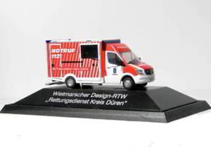 【送料無料】模型車 モデルカー スポーツカー レスキューサービスrietze 72039 was designrtw rettungsdienst kreis dren