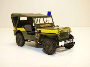 【送料無料】模型車 モデルカー スポーツカー ジープjeep willys securite civile 143