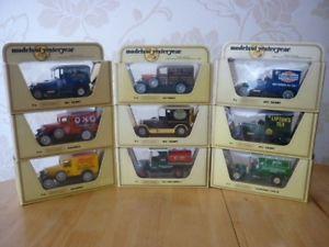 【送料無料】模型車 モデルカー スポーツカー マッチモデルミントlot of 9 different matchbox yesteryear models all mint amp; boxed