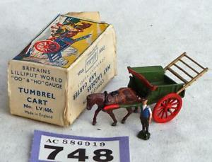 【送料無料】模型車 モデルカー スポーツカー lvスケールカートlv748 britains lilliput lv606 tumbrel cart in box 00 scale