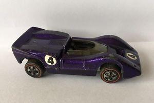 【送料無料】模型車 モデルカー スポーツカー ビンテージホットホイールマクラーレンモデルvintage hot wheels redlines, mclaren m6a, purple, rare model