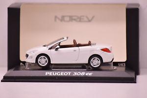 【送料無料】模型車 モデルカー スポーツカー プジョーフェーズpeugeot 308 cc phase i 2008 blanc norev 143 neuve en boite