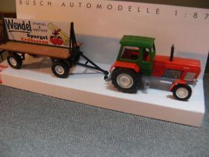 【送料無料】模型車 モデルカー スポーツカー ブッシュトターポスターカーストロベリー187 busch traktor fortschritt zt 300 mit plakatwagen erdbeerspargelhof 42834