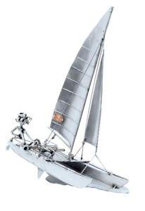 【送料無料】模型車 モデルカー スポーツカー モデルセーリングカタマランschiffsmodell katamaran mit segler g2337