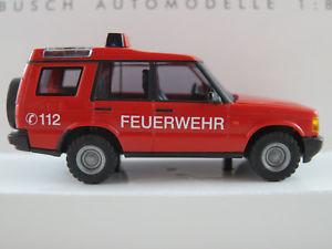 【送料無料】模型車 モデルカー スポーツカー ブッシュランドローバーディスカバリーシリーズbusch 51910 land rover discovery series ii 1998 feuerwehr 187h0 neuovp
