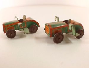 【送料無料】模型車 モデルカー スポーツカー ドロットlot de 2 voitures en tle annes 1930 5,5 cm tintoy rare