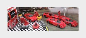 【送料無料】模型車 モデルカー スポーツカー エンツォフェラーリセットスクーデリアferrari set 4x f50 enzo 599 gto f430 scuderia 16m burago 143 bu31214aset