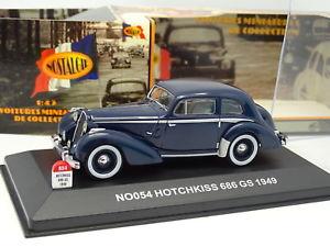 【送料無料】模型車 モデルカー スポーツカー ノスタルジアホチキスgnostalgie 143 hotchkiss 686 gs 1949 bleue